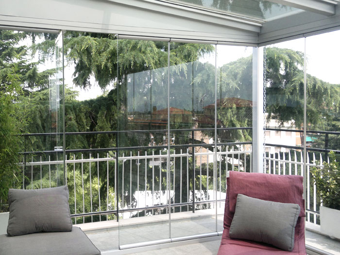 Giardini d inverno metal tende - Verande giardino d inverno ...